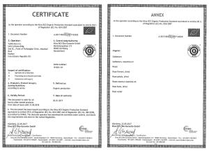 Organic Certificate of Tabib Daru's Products